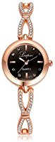 Lvpai Diamond Decorated Rose Gold Watches for Women Jewelry with Battery P116-1